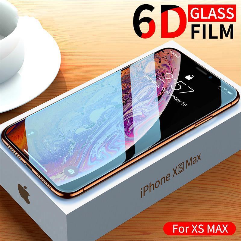 6D стекло для iPhone XS MAX Протектор экрана кривой закаленное стекло для iPhoneX Обложка фильм фото