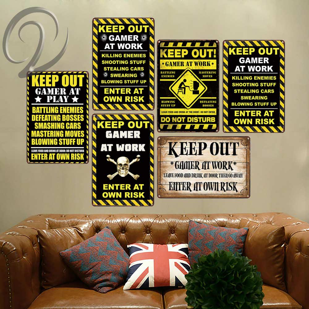 No fart zone tin metal sign house decorative items living room