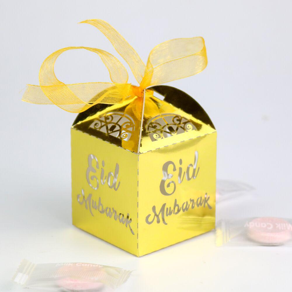 10pcs Eid Mubarak Favors Candy Box Gold Silver Paper Gifts Packaging Box Bag Party Supply Buy From 3 On Joom E Commerce Platform