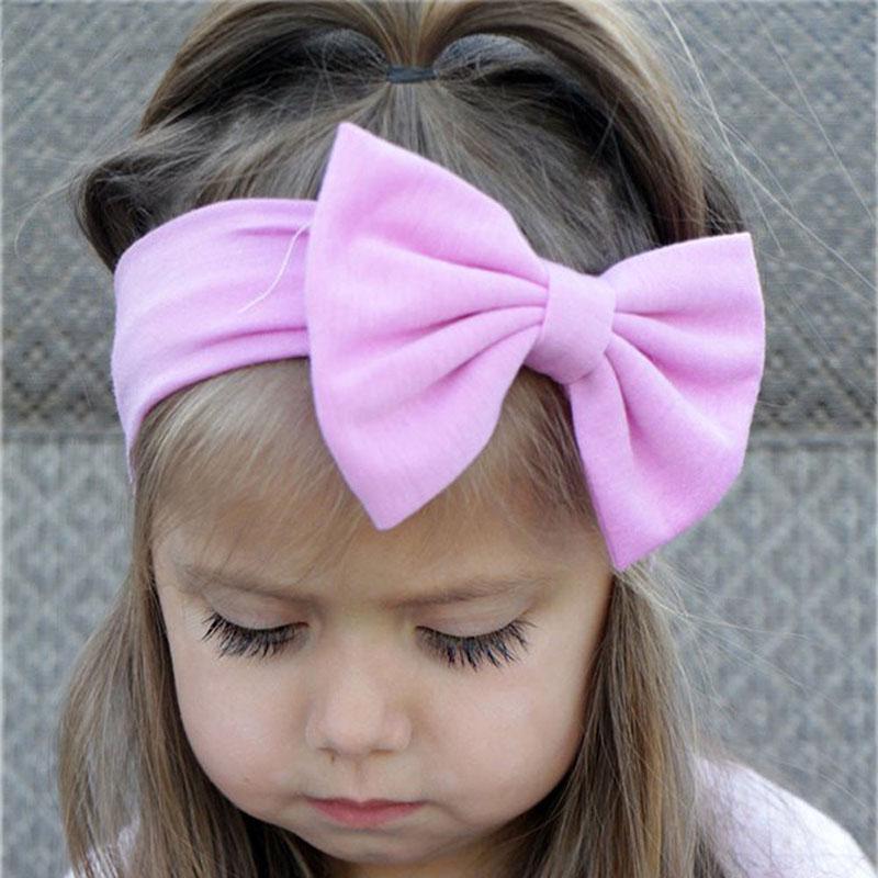 school girl bow nylon headband big bow headband Olive dot bow headband tied bow headband baby bow headband