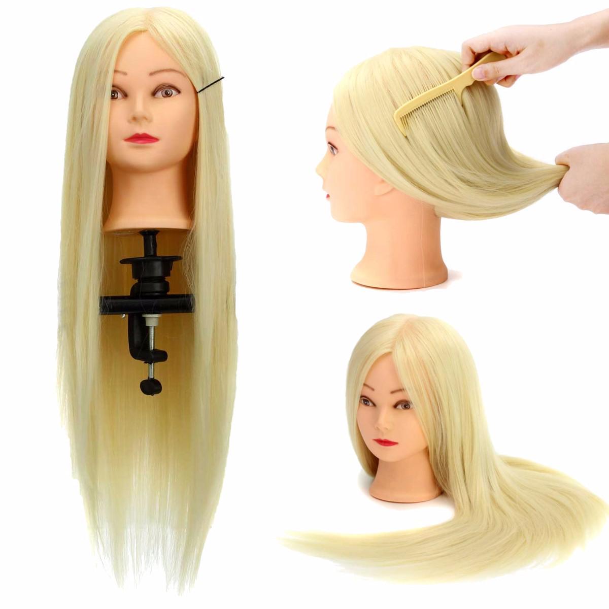 Манекен с натуральными волосами для профессиональной укладки волос фото