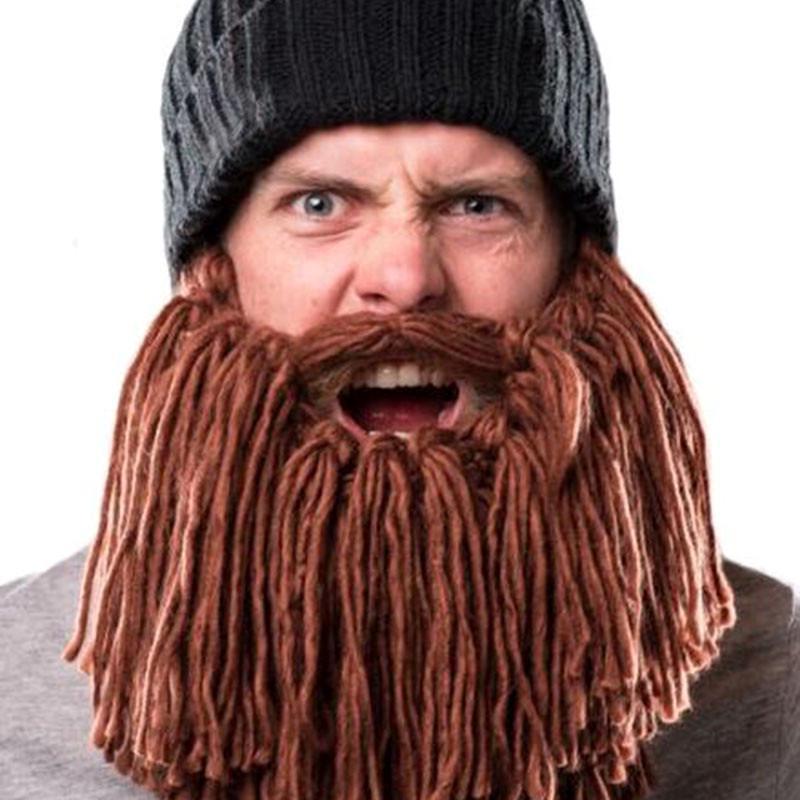 Personalidad grande barba invierno cálido gorro ganchillo hecho a ...