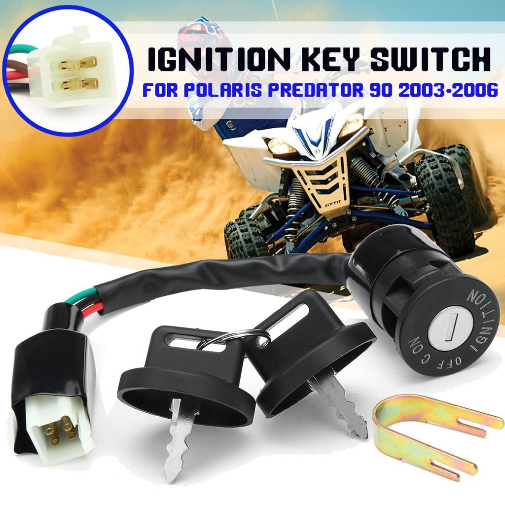 Ignition Key Switch Fits Polaris Predator 500 Predator 2003 2004 2005 2006 2007 ATV