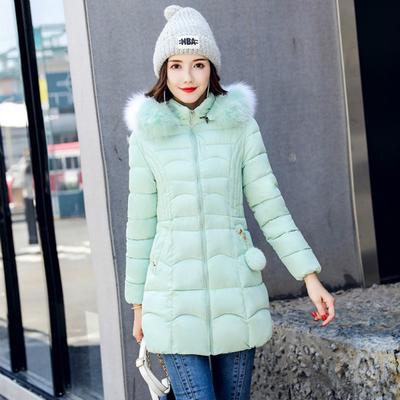 b617e8d24 Gola de pele de casaco de inverno quente com capuz casaco moda coreana  jaquetas Slim Casual