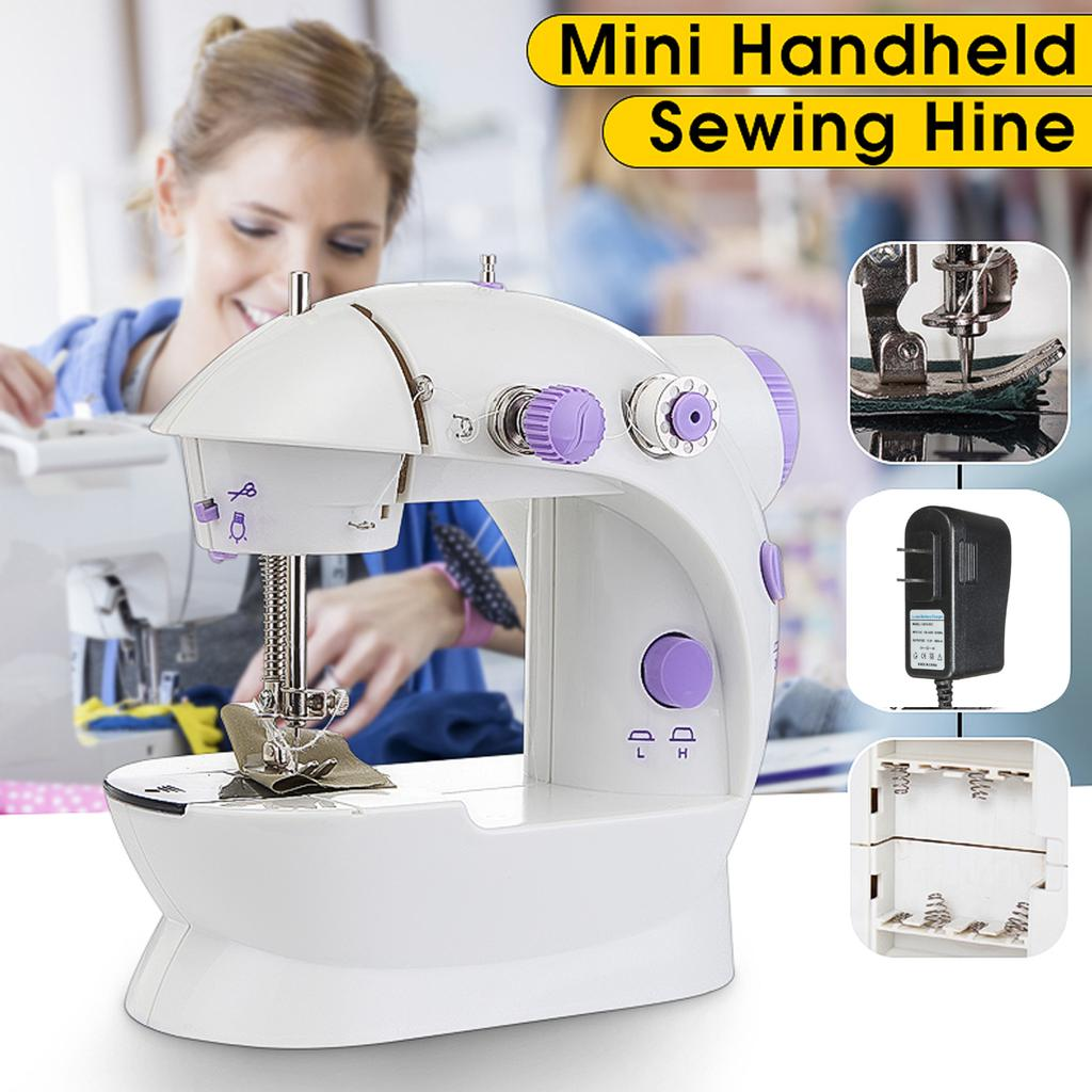Mini Electric Sewing Machine Portable Sewing Machine for Beginner with Pedal