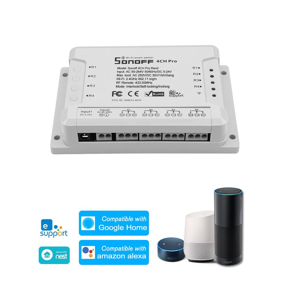3PCS SONOFF RF 433MHz 10A//2200W WiFi Smart Home Voice Control Switch APP Control