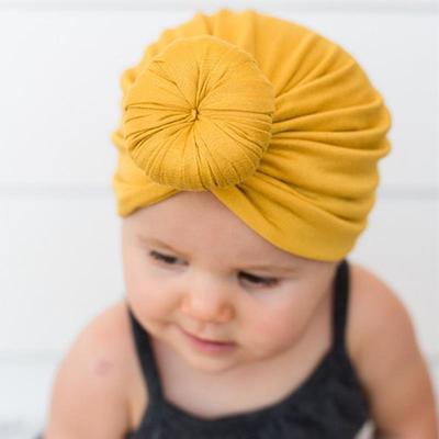 Toddler Newborn Kid Baby Boys Girls Solid Knot Turban Beanie Hat Headwear Cap