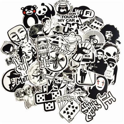 Imitation Metal Stickers 10 25 pcs Skateboard Stickerbomb Metallic Reflective