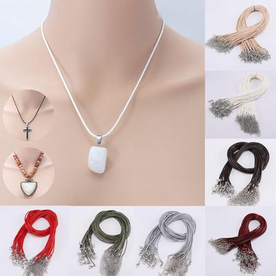 10 Pcs/set Charms Findings Leather Adjustable Braided Rope Necklaces Pendant String Cord