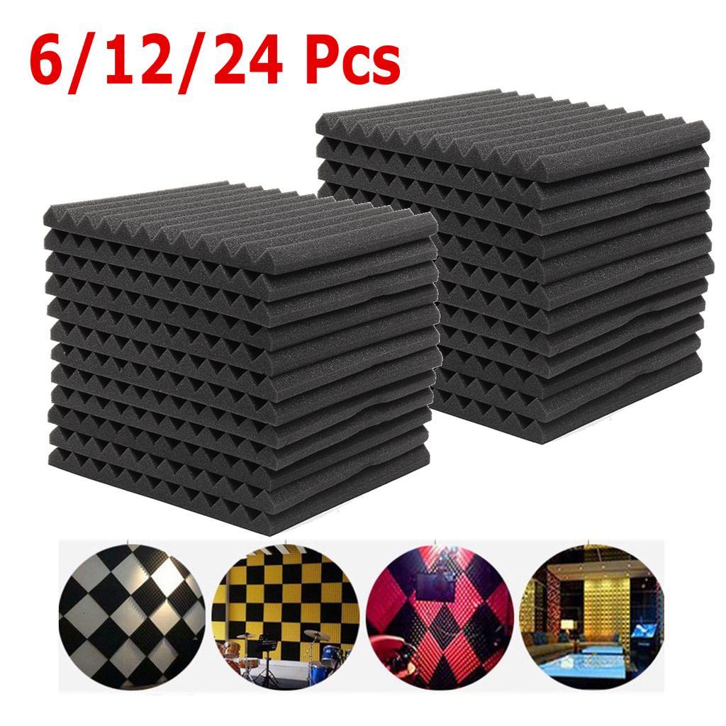 50x50cm Soundproofing Foam Studi Acoustic Sound Treatment Absorption Wedg TileSE