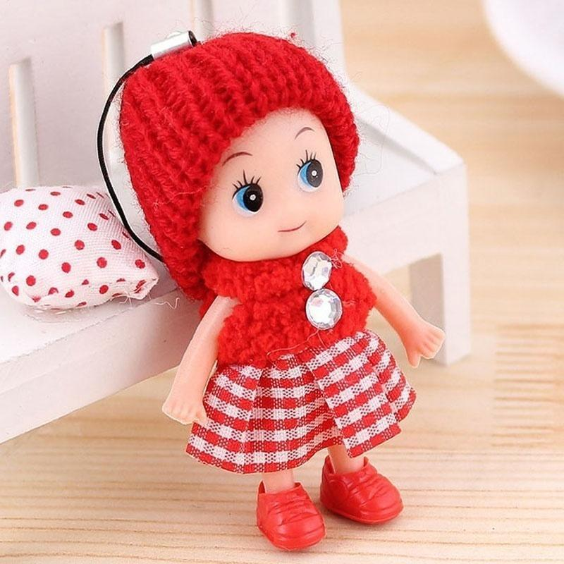 4x Kids Toys Soft Interactive Baby Dolls Toy Mini Doll Mobile Phone Accessory/_TI