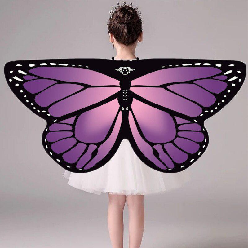 Details about  /Child Girl Halloween Cloak Fairy Butterfly Costume Cosplay Dress N4L3
