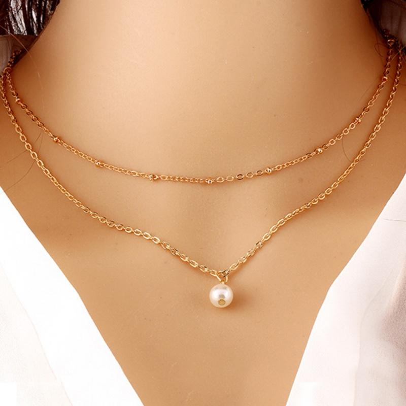 Fashion Charm Chain Jewelry Women Lady Multilayer Alloy Clavicle Choker Necklace