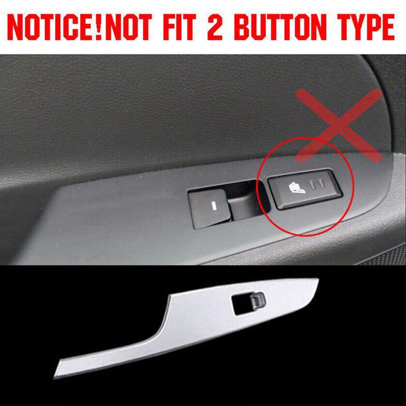 Chrome Door Window Switch Panel Cover Trim Molding For Hyundai Tucson 2016-2018