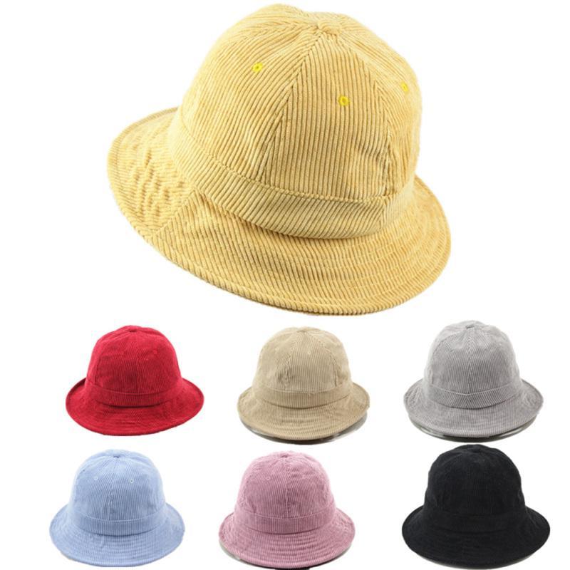 b568ab01fb0 Fashion Corduroy Bucket Hat Breathable Casual SUN Protection ...