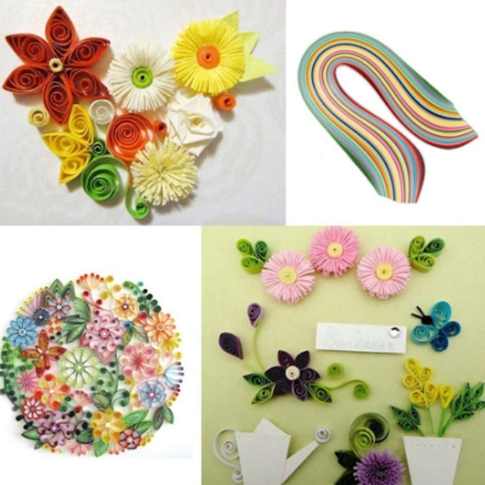 260 Stripes Quilling Paper Mixed Color 3mm Width Origami Paper Craft DIY Decor