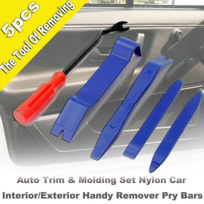 5Pcs Car Auto Body Moulding Door Panel Trim Clip Removal Pry Tool
