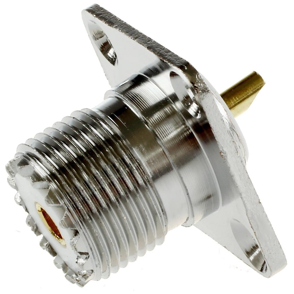 USA Seller UHF Female SO-239 RF 4-Hole Solder Panel Type connector 10 PCS