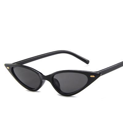 6a0f83181c8c6 Moda pequenos óculos de sol retrô gato feminino olhos homens de óculos  escuros e óculos de