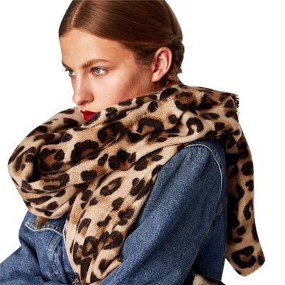 Red Leopards Unisex Cotton Like Soft Shawl Wrap Scarf Neck Wear