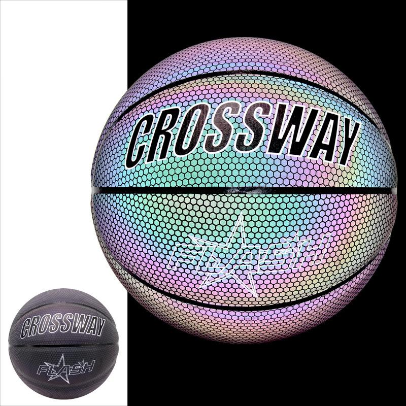 Glowing Basketballs Perfect for Boys Gifts Holographic Basketball Bright Reflective Night Game Street Basketball Glow in The Dark Basketball Luminous Basketball NO.7 Basketball