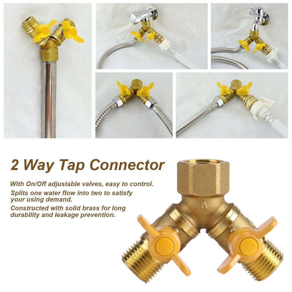 16mm Reducing Joiner Outdoor Water Irrigation Connector 3 x Barbed 20mm