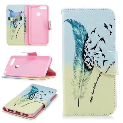 Feather Bird Wallet Leather Flip Cover Case for Huawei Samsung Sony Moto with Card Holder Phone