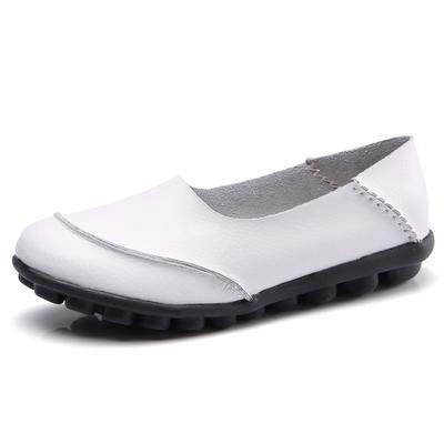 69383a828cb50c Damskie buty codzienne Miękka skóra naturalna Kobiece mieszkania Damskie  mokasyny Czółenka rekreacyjne Slip-On