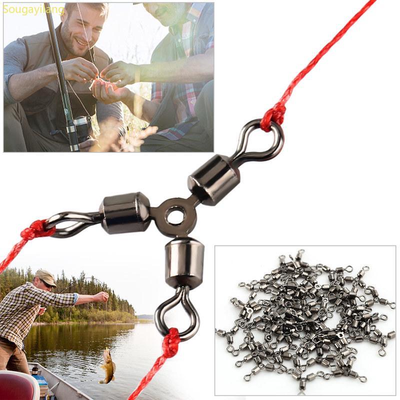 200pcs Hook Line Lien Connecteur émerillons grossier Sea Carp Fishing