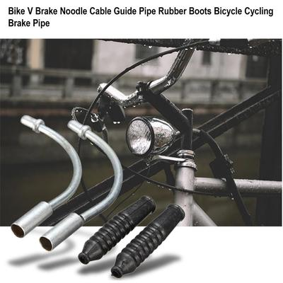 Pipe Effectively Protect V Brake Folding Hose Bike Rubber Brake Cables Bicycle Noodles Cable Guide