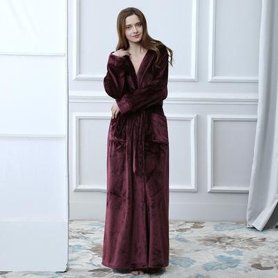 0fe443f9d9 Lapel Winter Sleeve Chalaza Bathrobe Autumn Long Keep Warm Furnishing  Pajamas Lingerie Robe Kaftan