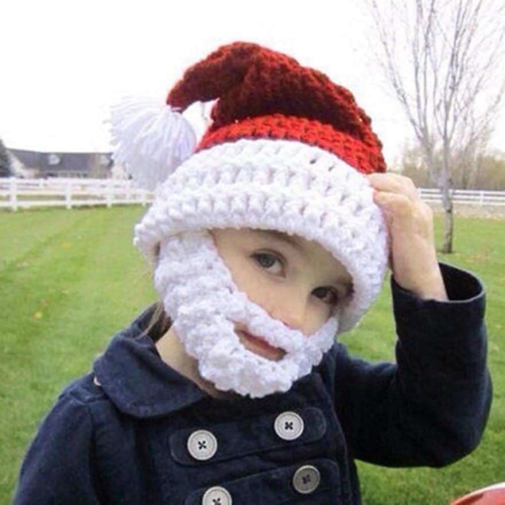 6bd8ca1c8b2 Cool Christmas Hat Handmade Knitted Mustache Hat Santa Claus Full ...