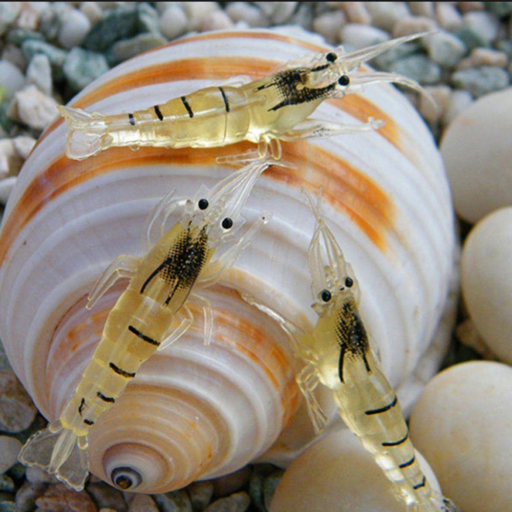 Biomimetic Soft Prawn Lure Sea Fishing Shrimp Fake Bait Hook Worm Silicone
