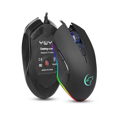 Color : Black Cable Length: 1.4m G30 USB 7-Keys RGB Light Wired Optical Gaming Mouse Durable Black