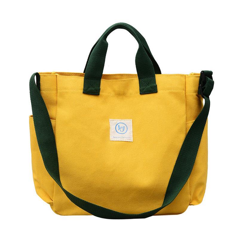 Details about  /Ladies Solid Color Canvas Tote Large Capacity Handbag Canvas Casual Shoulder Bag