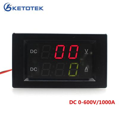 Power DC300V//100A Voltage Meter ,LCD Display Digital Voltage Meter Tester,Multifunction Ammeter Voltmeter,with 2-Pin Cable and Temperature Probe,for Measuring Voltage Impedance Time,etc. Current