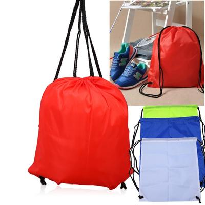 Santa Hat Green Red Drawstring Backpack Sports Athletic Gym Cinch Sack String Storage Bags for Hiking Travel Beach