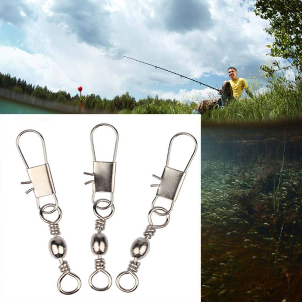 Hot High Quality Fishing Connector Barrel Swivel Stainless Steel Hanging Snap