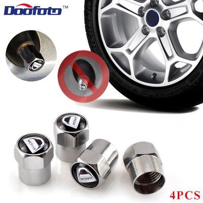 4Pcs Car Valve Stem Cap Aluminum Tire Wheel Rim Dust Cover Logo fit Renault