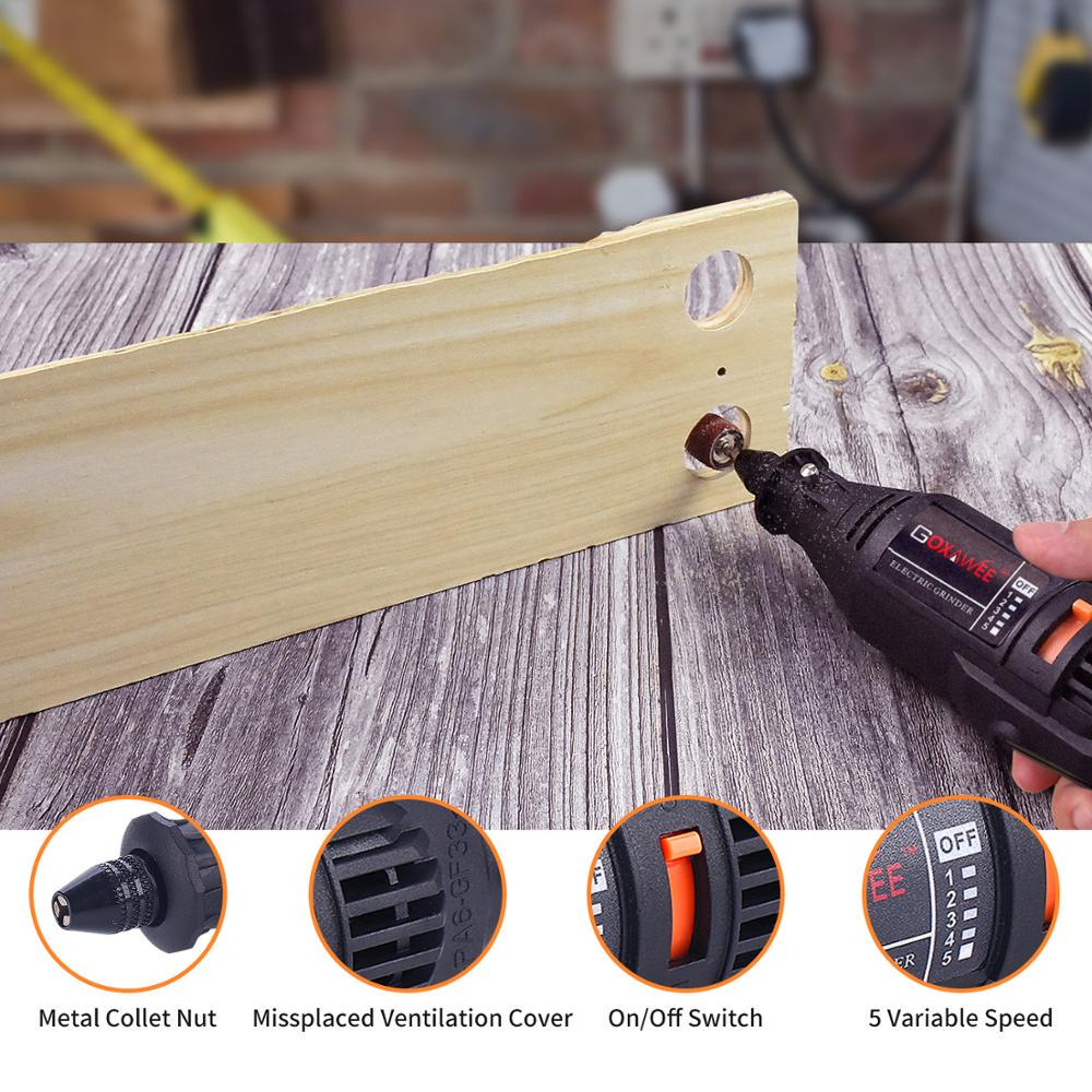 Mini Cordless Grinder Variable Speed Rotary Electric Drill Tools Kit DC 5V 10W E