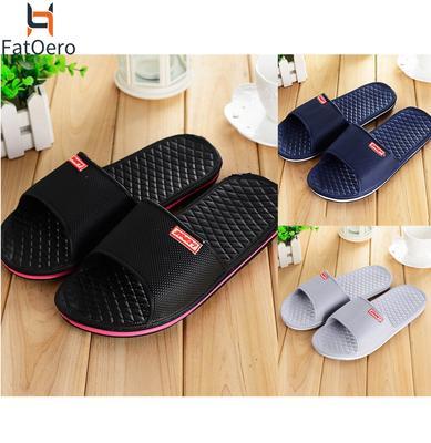 Mens Black And White Zebra Heads Non-Slip Soft Foams Slipper Home Slide Sandals
