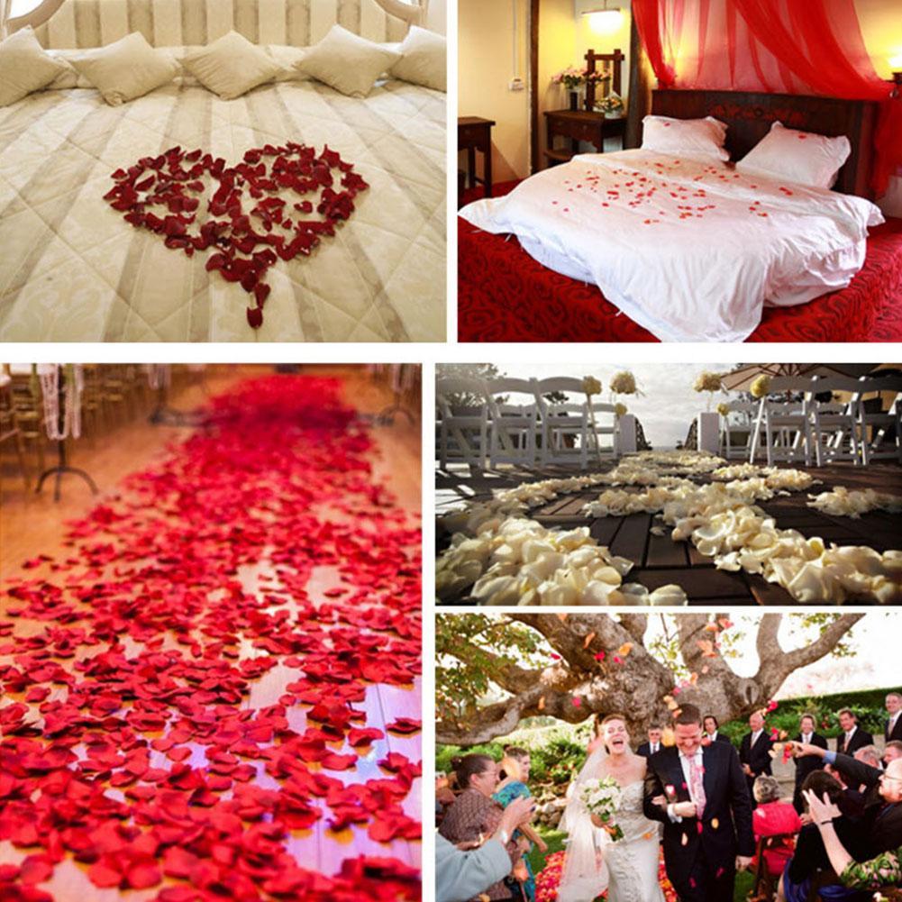 100pcs Wedding Heart Petals Wedding Confetti Table Bed Valentine Decoration New