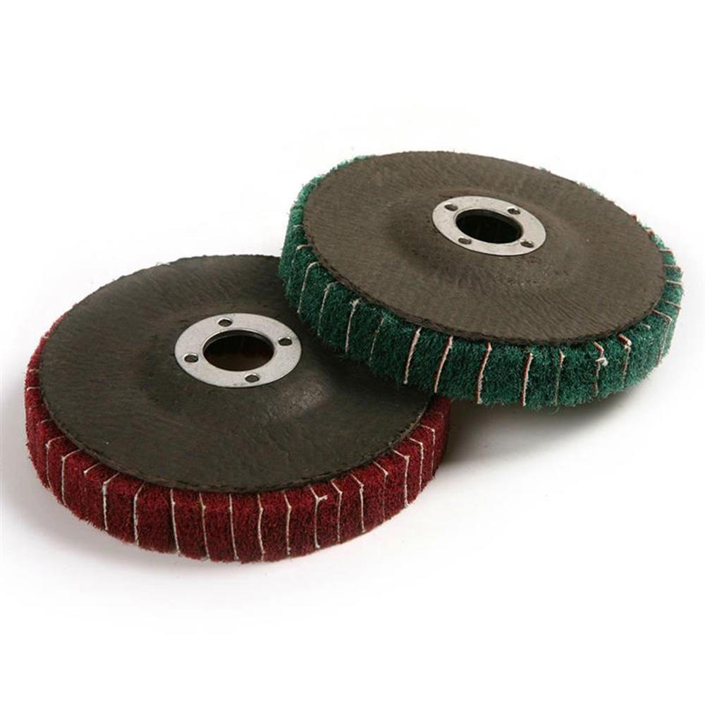 Red 10pcs 100x16mm Fiber Nylon Polishing Wheel Angle Grinding Sanding Disc