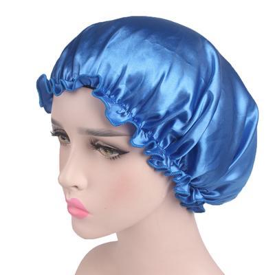 Night Sleep Hat Women Bonnet  Long Hair Chemo Cap Satin Lace Turban Hats