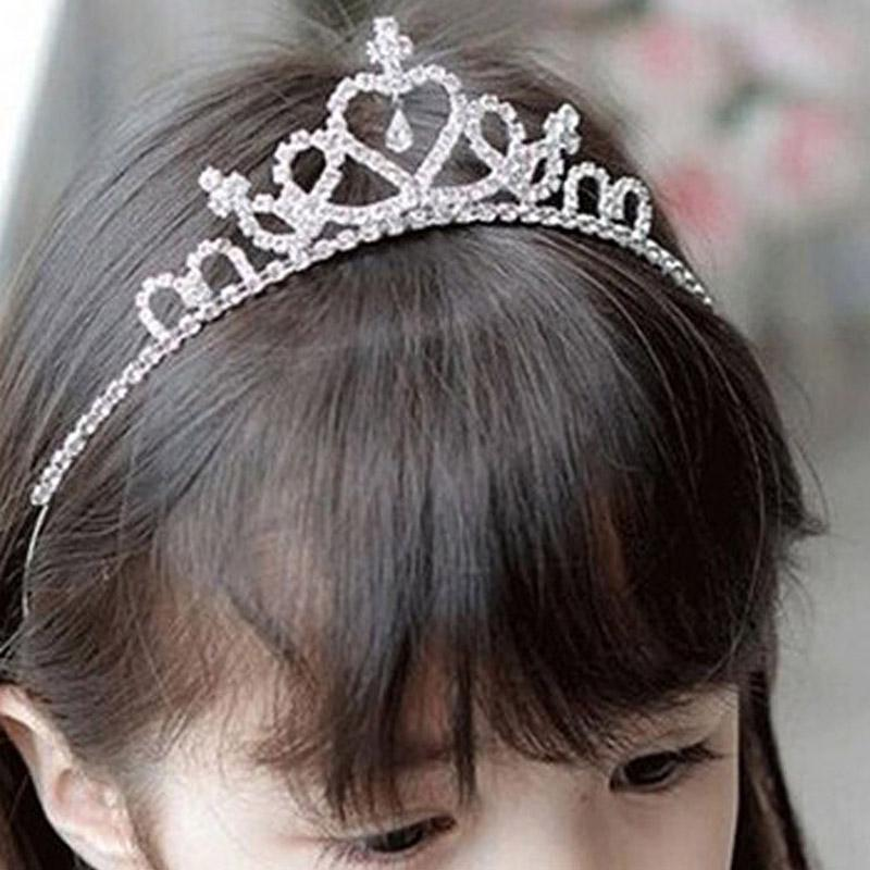 Girl Kids Bridemaid ballerina Crown Princess Crystal Tiara Hair Headband band