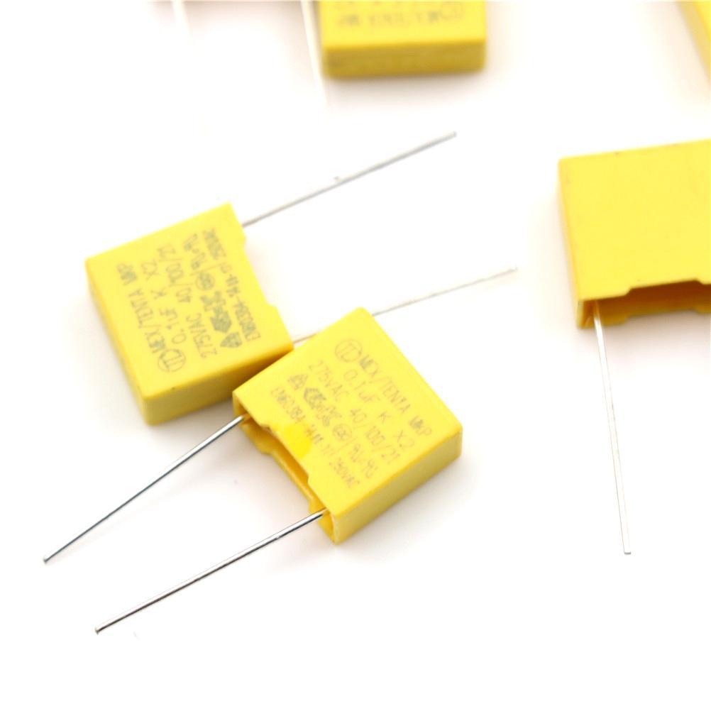 20Pcs 0.1UF X2 104 100NF 275V 10mm Regulation DIP Polypropylene Film Capacitor/'