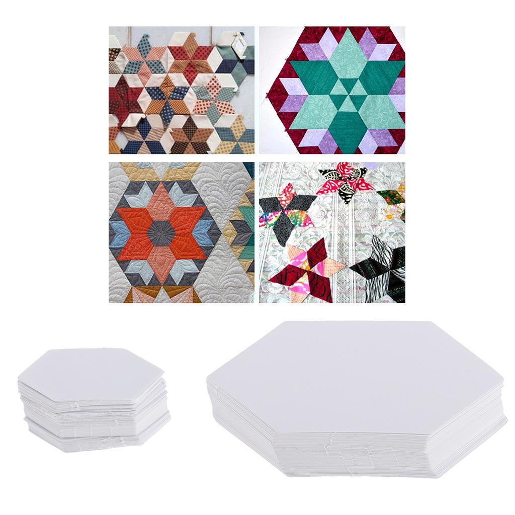 200 x Papier Hexagon Quilt Vorlage Englisch Piecing Patchwork 4.2 ...
