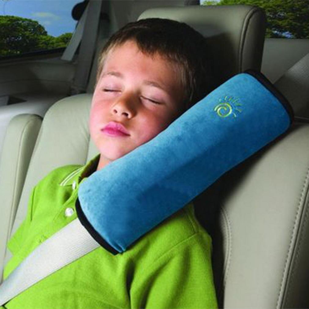 儿童安全带护肩 汽车安全带套 麂皮绒婴儿睡觉靠枕