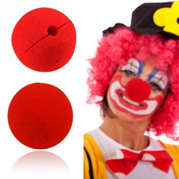 Funny Red Sponge Foam Clown Nose Dress-up Stage Props For Halloween...
