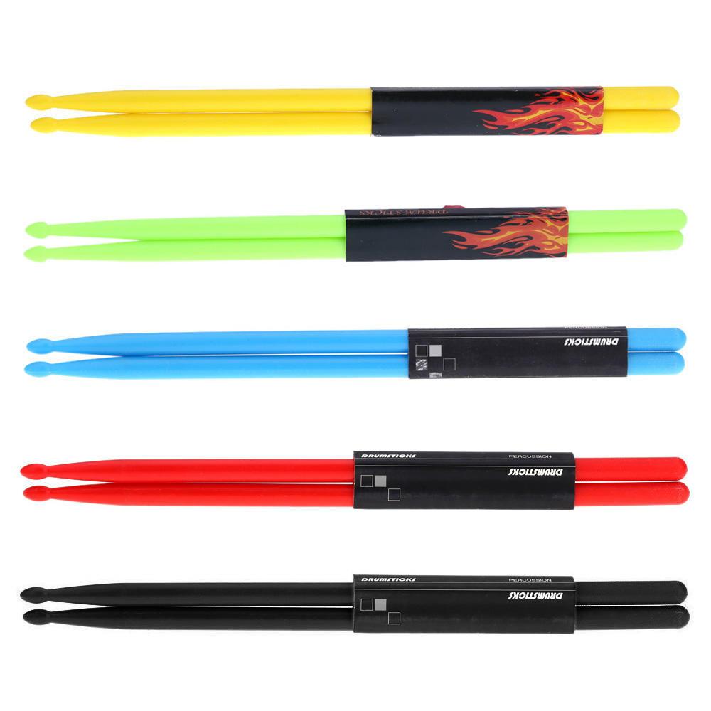 """5 Pair//Set 15/"""" Nylon Design Tipped Drum Kit Stick Drumsticks"""